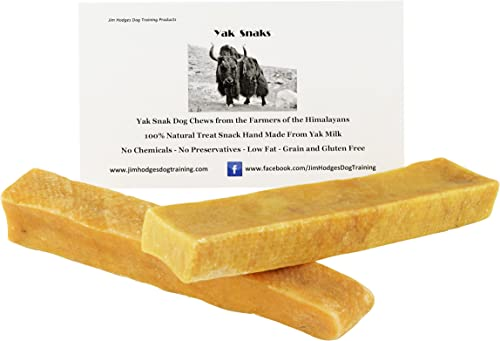 Yak Snak Dog Chews – All Natural Hard Cheese Himalayan Dog Treats – Long Lasting Dog Chews, Made from Yak Milk, Small, Medium. Large Extra Large Sizes