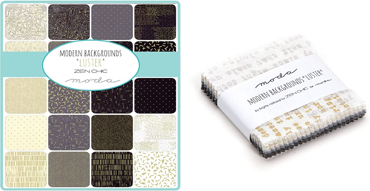 Moda Fabric Modern Backgrounds Luster Metallic Mini Charm Pack: Amazon.es: Juguetes y juegos