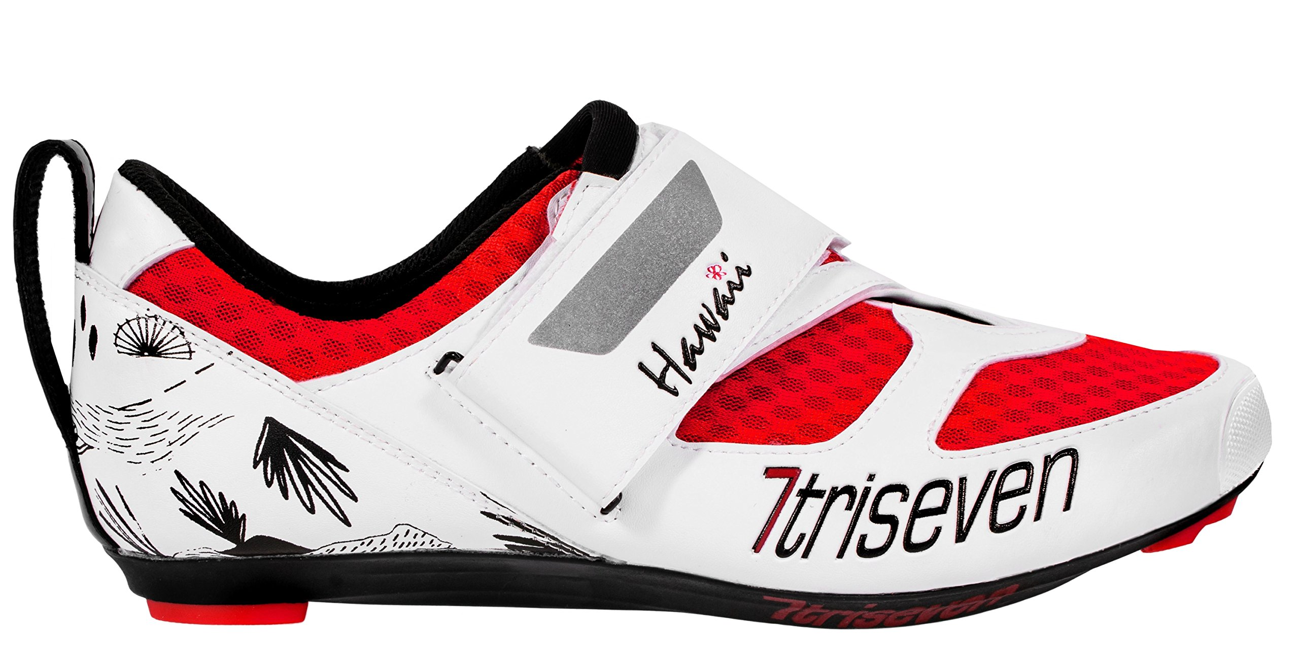 TriSeven Premium Nylon Triathlon Cycling Shoes | Lightweight, Unisex & Fiberglass Sole