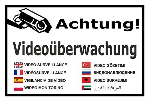 Video Uberwachung Aufkleber Achtung Videouberwachung In 8