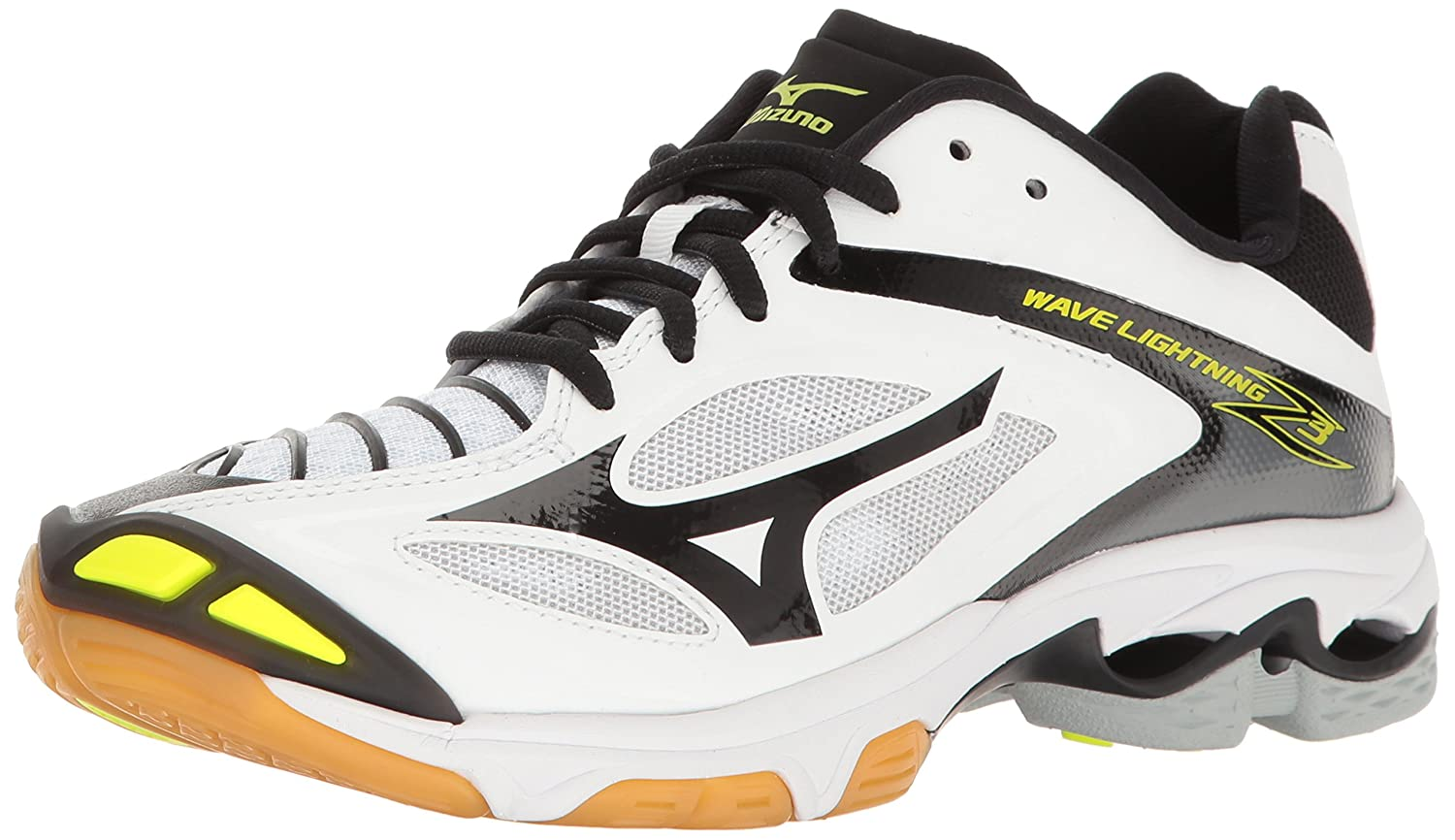 Mizuno Women's Wave Lightning Z3 Volleyball Shoe B01N8VZ7UH 13 M US|White/Black