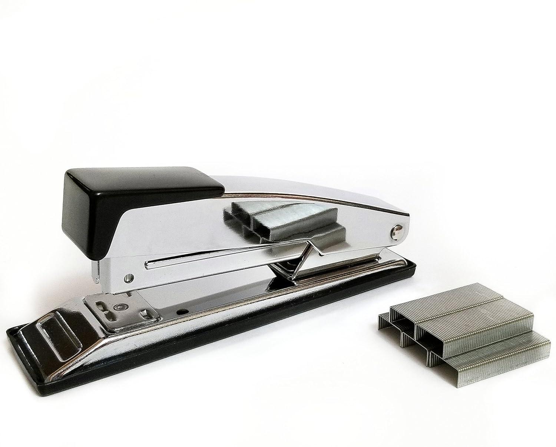 Chrome Stapler - 25 Sheet Capacity - Bonus 1000 Staples Included PRIME FORD INDUSTRIAL LIMITED