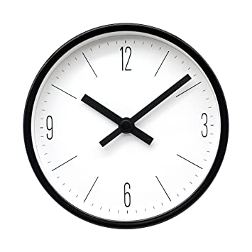 Amazoncom Comodo Casa Wall Desk Clock Metal Black Frame Glass