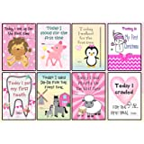 Baby Milestone Cards - Set of 30 Baby Girl Photo Prop Signs Posters - Perfect baby shower, christmas present or christening or pregnancy gift