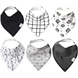 """Baby Bandana Drool Bibs for Drooling and Teething 6 Pack Gift Set for Boys """"Hawk"""" by Copper Pearl"""