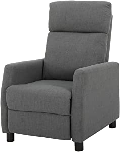 Christopher Knight Home Tabahri Fabric Recliner, Grey