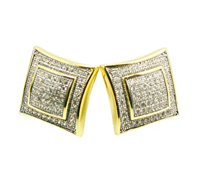a hoop shaped vintage square gold earrings