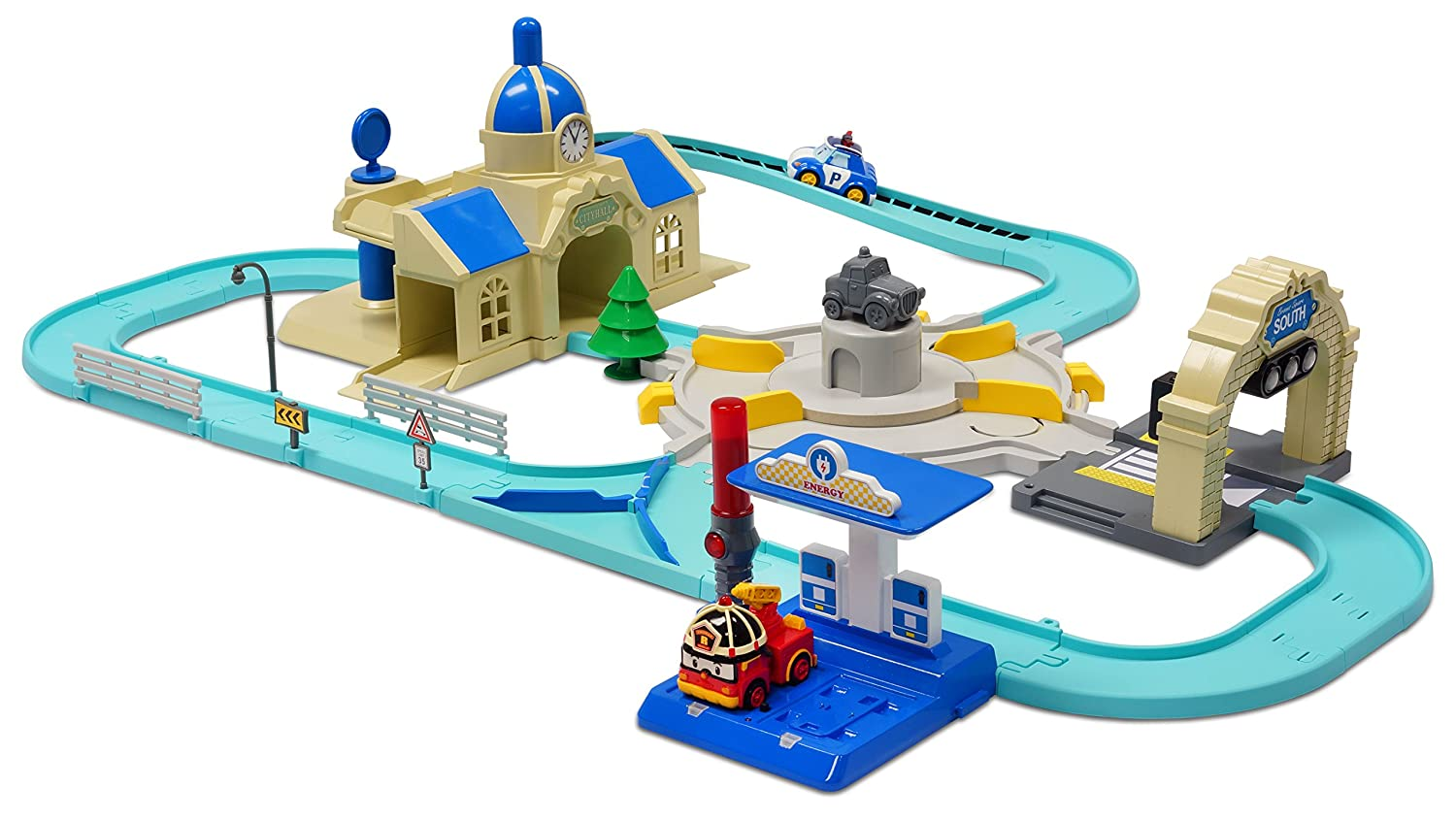 Robocar Poli Deluxe Palyset with Auto-Poli and Auto Amber