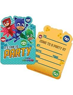 PJ Masks Invite Cards With Envelopes