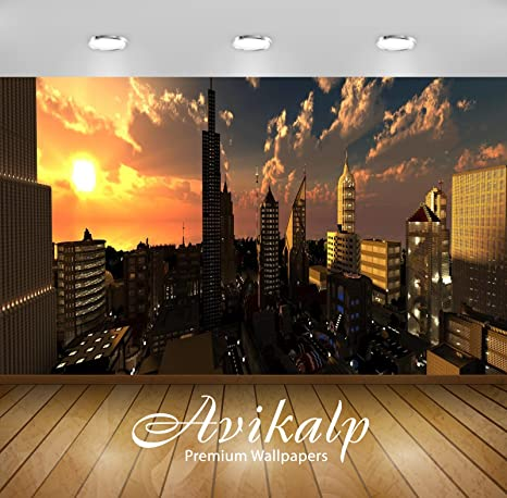 Avikalp Exclusive Awi1765 Minecraft Skyline City View Full