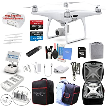 Amazon.com : DJI Phantom 4 PRO Drone Quadcopter Bundle Kit ...