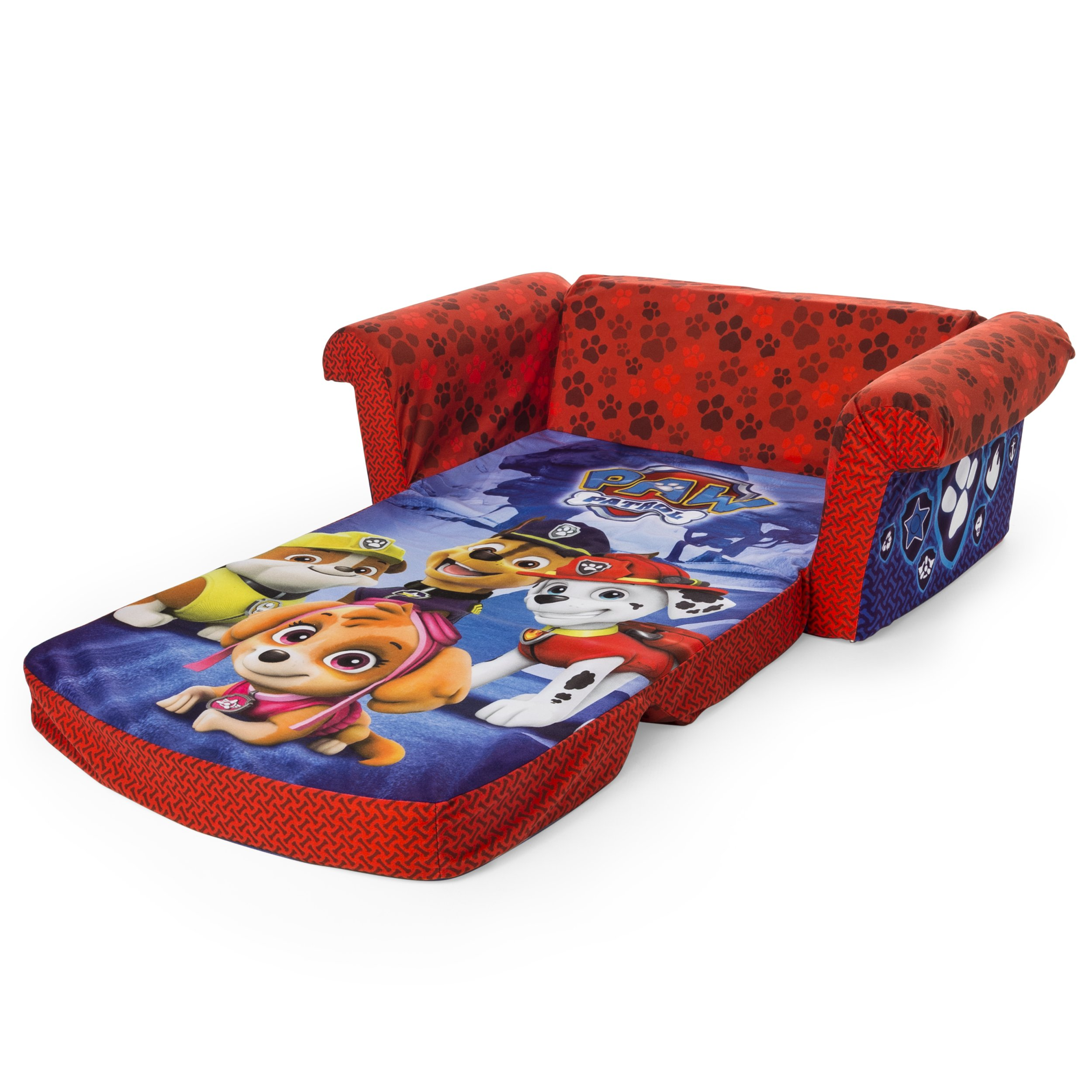 Marshmallow Furniture Children's 2 in 1 Flip Open Foam, Nickelodeon Paw Patrol Sofa Chair Furniture, Red by Marshmallow Furniture (Image #5)