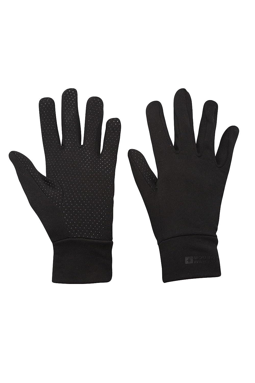 Mountain Warehouse Grippi Guantes de la guarnición - Breathable, guantes secos rápidos del esquí, Mittens suaves del paño grueso y suave del tacto, no palma del resba