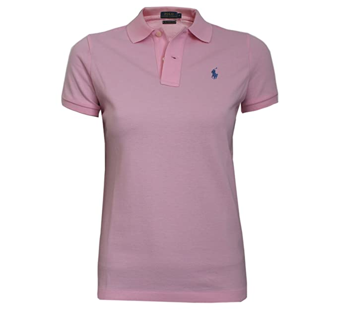 25c45775 Ralph Lauren Polo Shirt Ladies Skinny Fit Solid Mesh: Amazon.co.uk: Clothing