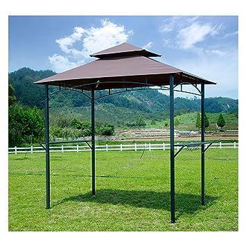 GOJOOASIS Barbacoa toldo Tienda de campaña al Aire Libre Barbacoa Gazebo Tienda de campaña de 2