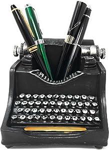 Retro/Shabby Chic/Vintage Pencil Holder for Desk/Desk Organizer for Writer's Desk (Typewriter)