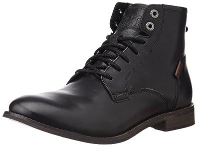 ec3e18fad6a15 Levi's Men's Bladwin Brogue Black Leather Boots - 8.5 UK: Buy Online ...