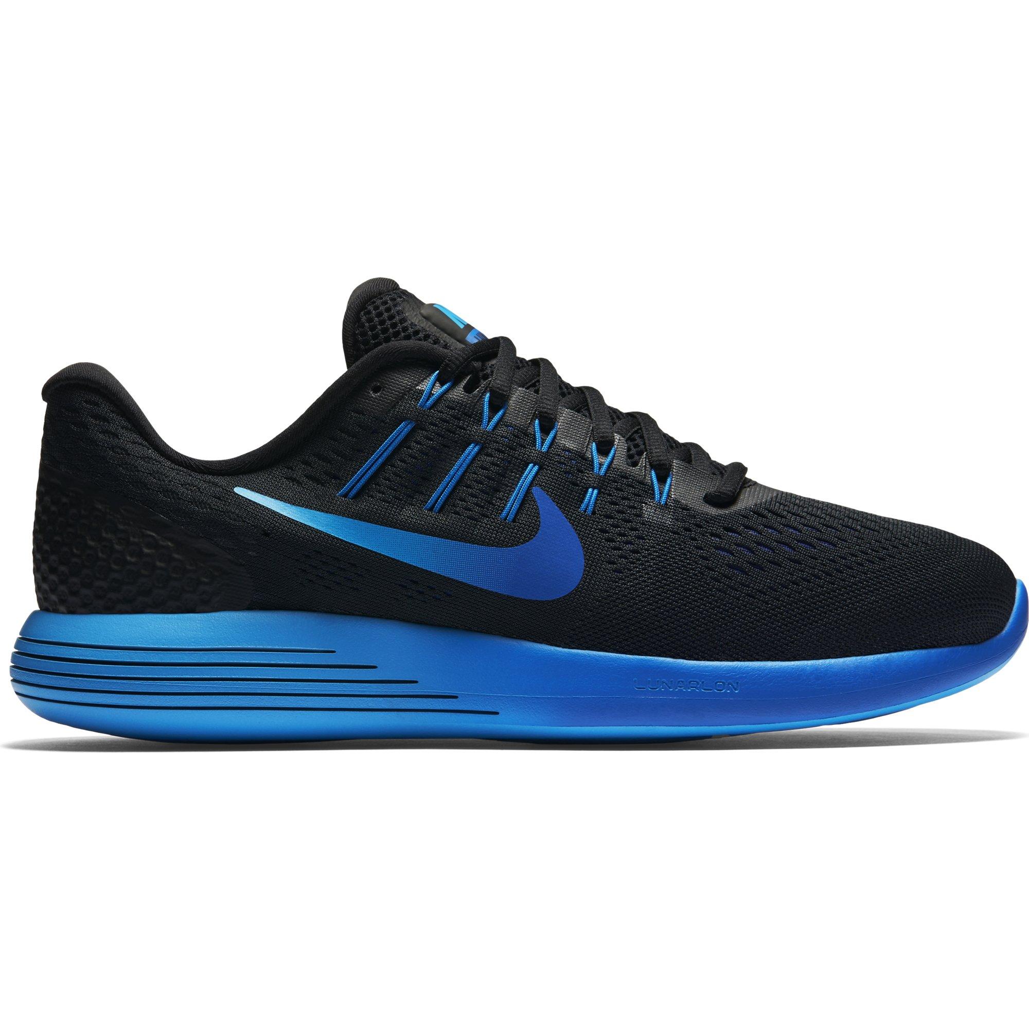 new concept 8f447 0e804 Galleon - Nike Men s LunarGlide 8 Running Shoe Black Multi-Color-Deep Royal  Blue 13
