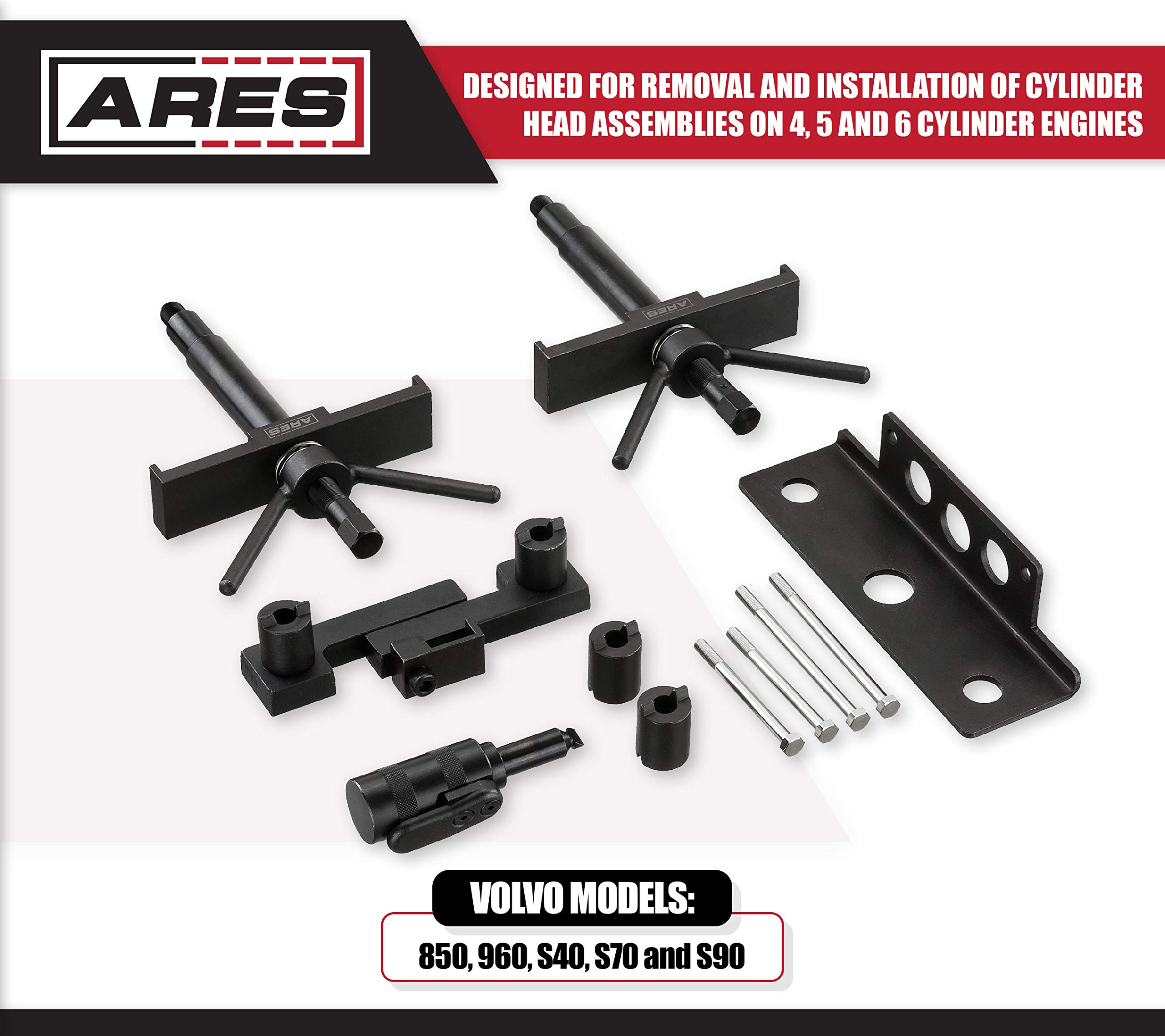 ARES 71506 | Volvo Camshaft, Crankshaft, and Timing Alignment Master Tool Set | Deep Counter-Weighted Sockets for Increased Torque | Correctly Install Camshafts with Cam Cover by ARES (Image #1)