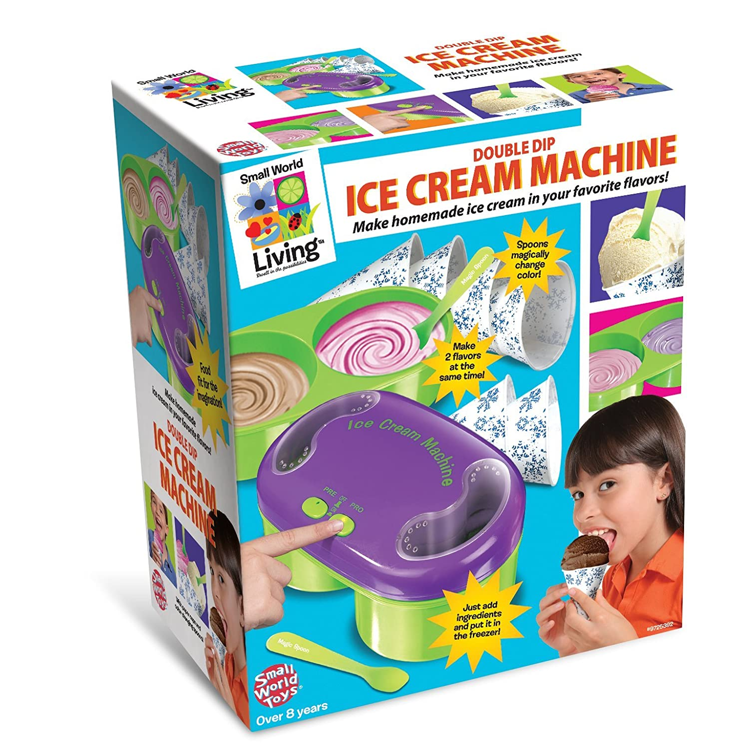 Small World Toys Living - Double Dip Ice Cream Machine B/O