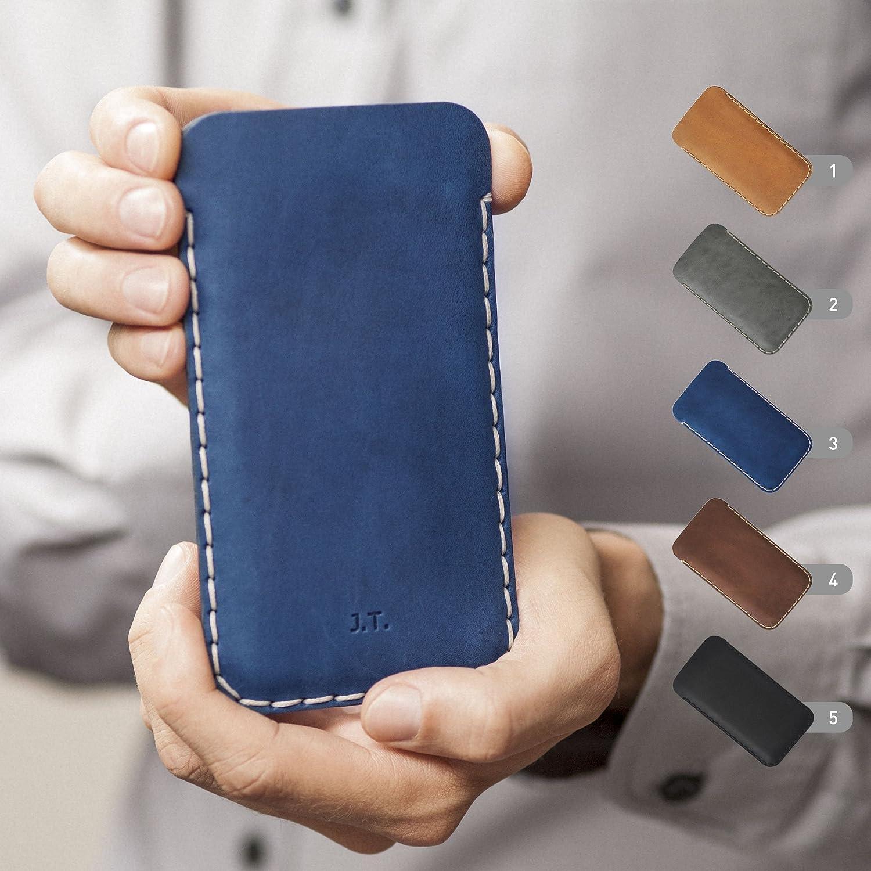 Housse en cuir pour OnePlus 6, 5T, 5, 3T, 3, 2, One, X, Plus Étui Personnalisé Pochette Case Coque Cover Monogramme Inscrivez votre Nom ou Initiales