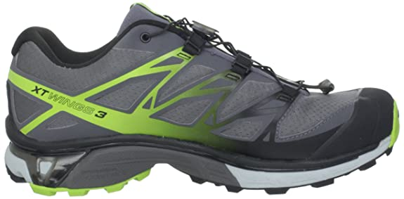 cheap for discount e108e 20ba1 SALOMON XT Wings 3 Men s Trail Running Shoes, Grey Yellow Black, UK12.