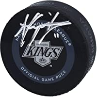 Anze Kopitar Los Angeles Kings Autographed 2019 Model 1993 Throwback Logo Official Game Puck - Autographed NHL Pucks photo