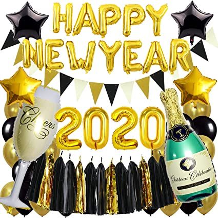 Silvester Konfetti HAPPY NEW YEAR oder CHAMPAGNER