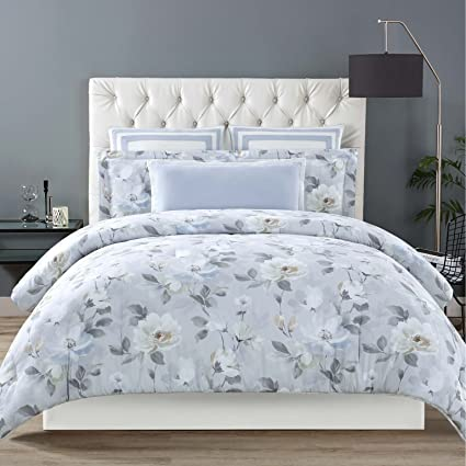 b5b751d388355 Image Unavailable. Image not available for. Color  Christian Siriano Soft  Floral Full Queen 3 Piece Comforter Set