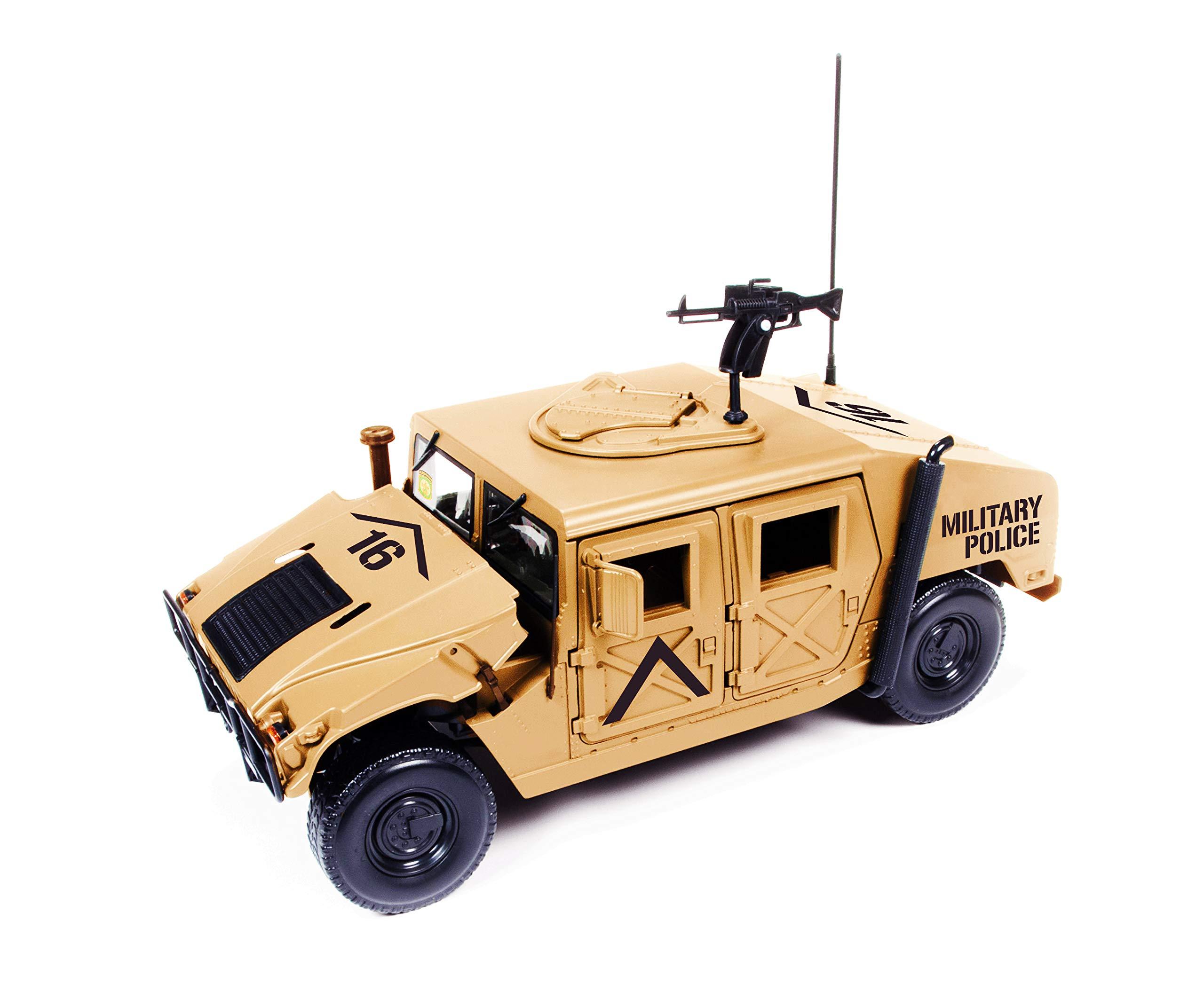 HMMWV (Humvee) Military Police Desert Tan 1/18 Diecast Model Car by Autoworld AWML003 B