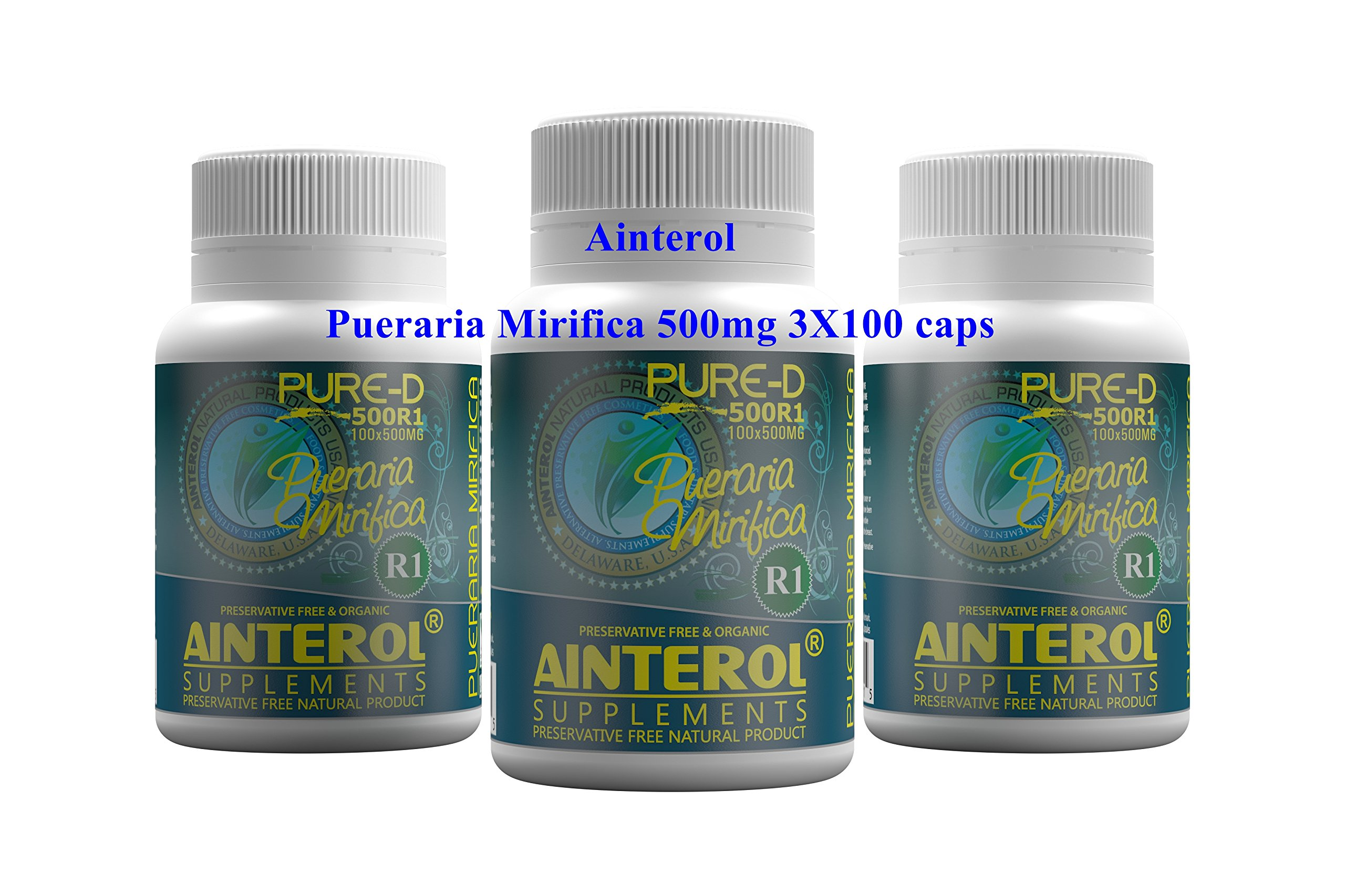 Ainterol Pueraria Mirifica 500pure R1 - 300 Capsules X 500mgs This Is the Newer Stronger Strain! by Ainterol