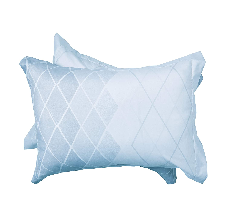 Delbou Tree 3pcs Bedding Set,Lightweight Microfiber Duvet Cover Set,Diamond Pattern Queen Comforter Cover Set Light Blue