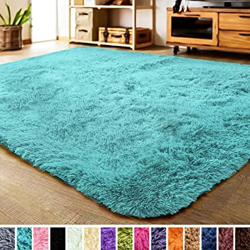 Super Soft and Cozy High Pile Washable Carpet Modern Rugs for Floor 2x3 Feet Luxury Shag Carpets for Home Bed and Living Room Dark Gray Gorilla Grip Original Faux-Chinchilla Nursery Area Rug