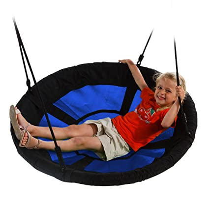 "Swing-N-Slide WS 4861 Nest Swing with 40"" Diameter, Blue"