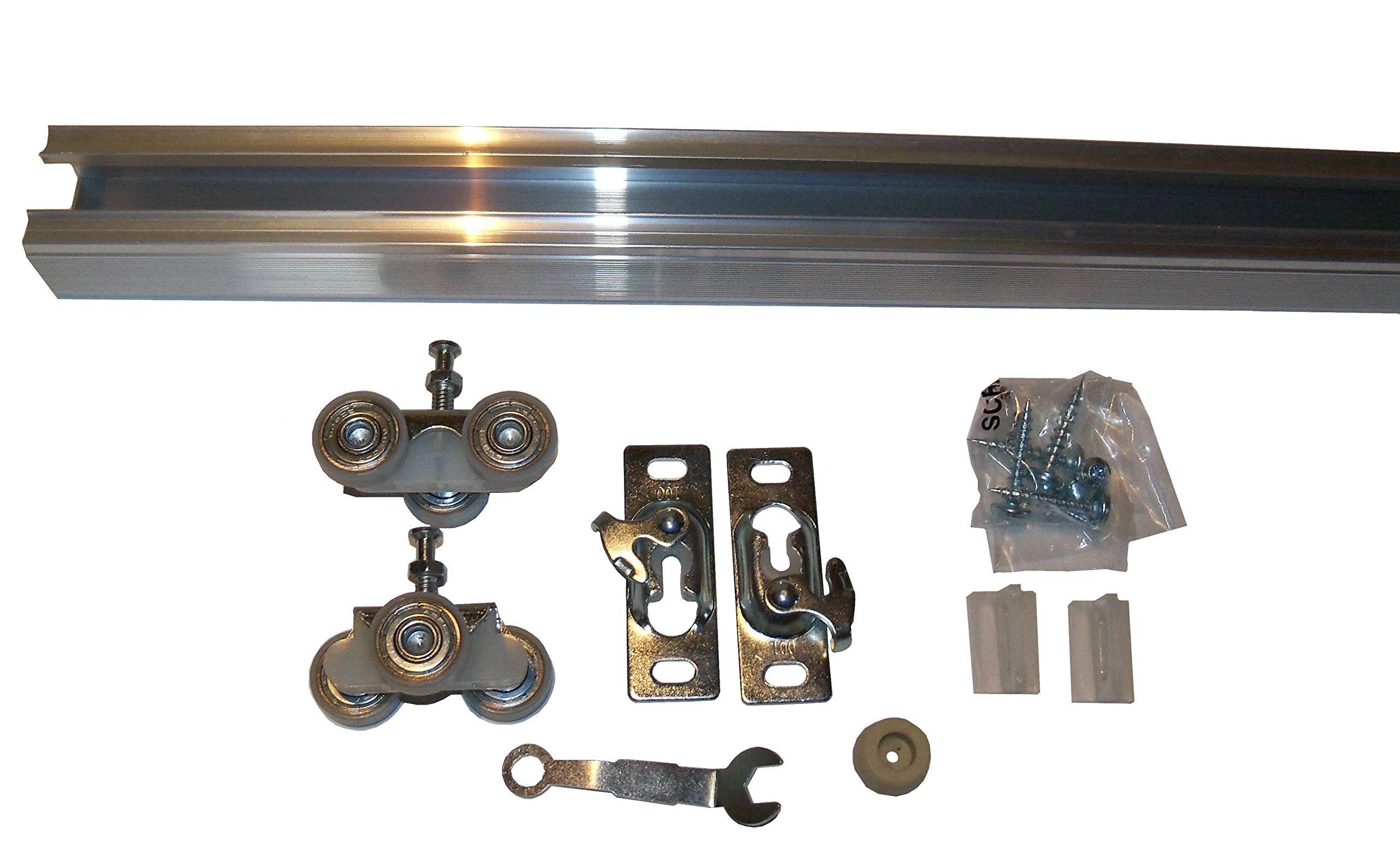 Series 2 HBP Heavy Duty Pocket Door Track and Hardware Kit (48'')