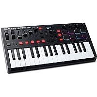 M-Audio Oxygen Pro Mini - Controlador de teclado MIDI USB de 32 teclas con almohadillas de ritmo, perillas asignables…