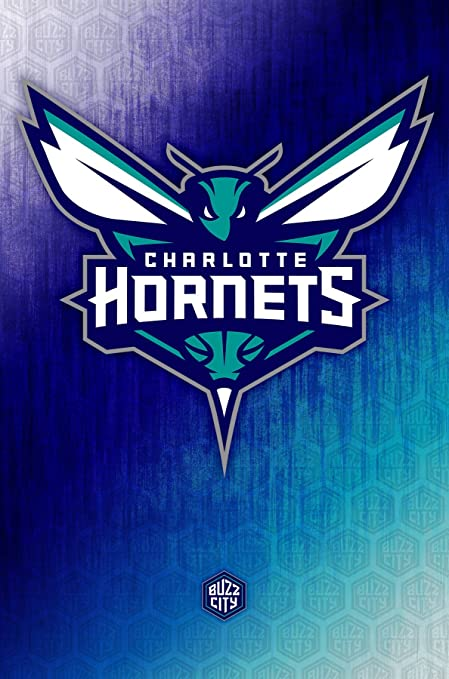 low priced 56301 02b88 Trends International Charlotte Hornets Logo Wall Poster 22.375 quot  ...