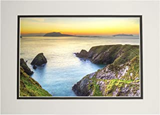 product image for Sunset Over Dunquin bay on Dingle Peninsula, Co. Kerry, Ireland A-9003282 (11x14 Double-Matted Art Print, Wall Decor Ready to Frame)