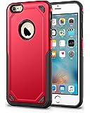 Protector Funda Case Uso rudo para iPhone 5 5s SE 6 6s 6 Plus 7 8 7 Plus 8 Plus X XS XR XS MAX (6 / 6s, Rojo)