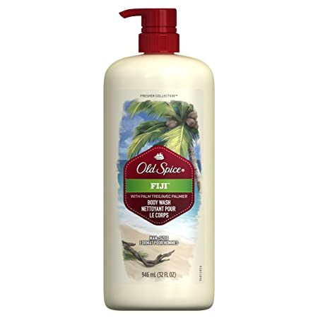 Old Spice Fresher Collection Men s Body Wash, Fiji, 32 Ounce