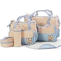 5pcs Baby Nappy Changing Diaper Bag SET &