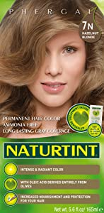 Naturtint Permanent Hair Color 7N Hazelnut Blonde (Pack of 1), Ammonia Free, Vegan, Cruelty Free, up to 100% Gray Coverage, Long Lasting Results