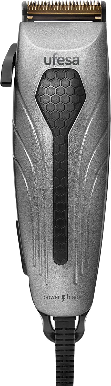 Ufesa Máquina de Cortar Pelo con Gran Potencia y Cable, 6W, Cuchillas DUO BLADE de Titanio (Múltiples Accesorios) 1 Unidad 330 g