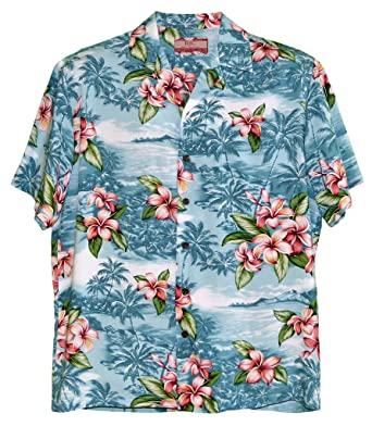 5b5d943f Robert J. Clancey RJC Men's Plumeria Shores Rayon Hawaiian Shirt at Amazon  Men's Clothing store: