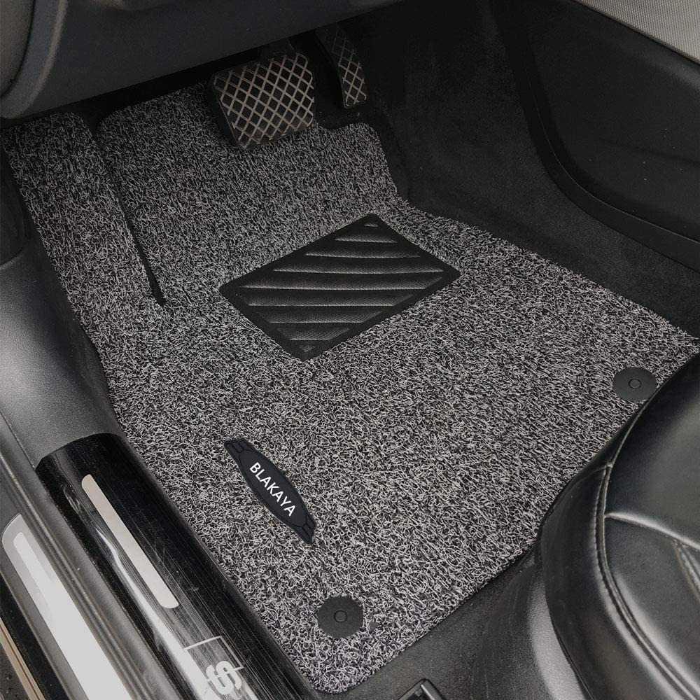 BLAKAYA Compatible with Floor Mat Full Set Heavy Duty Carpet for BMW X5 2014 2015 2016 2017 2018 F15 All-Weather Guard Waterproof Stain-Resistant Grey-Black