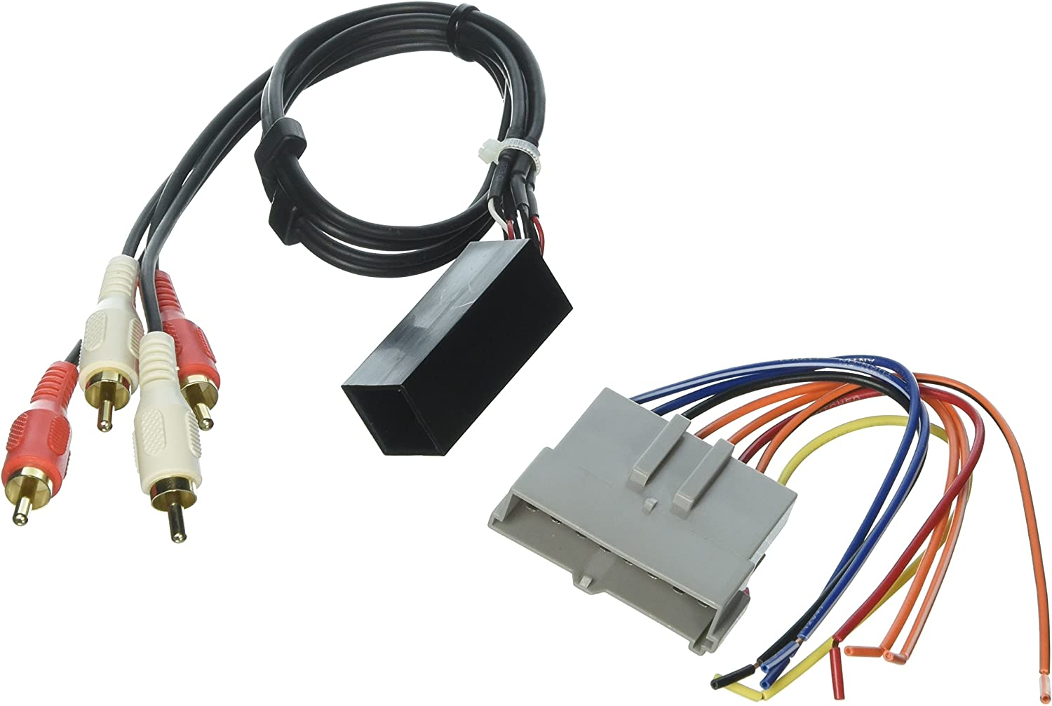 SCOSCHE FDK1B 1989-94 Ford Premium Sound Retention Wire Harness kit; Power and RCA to Dash/Amp Input