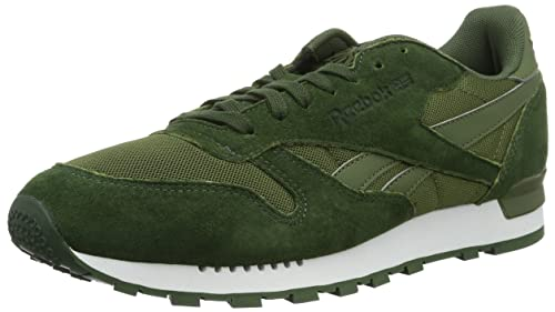 3bc9c85c5992 Reebok Men s Classic Leather Clip ELE Low-Top Sneakers, (Moss Primal Canopy  Green