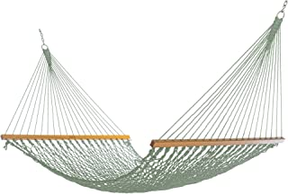 product image for Nags Head Hammocks NH13MDW Double Meadow Duracord Rope Hammock with Free Extension Chains & Tree Hooks, Handcrafted in The USA, Accommodates 2 People, 450 LB Weight Capacity, 13 ft. x 55 in.