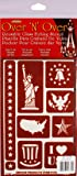 Armour 21-1675 Over N Over Stencil Patriotic Crafts Supplies