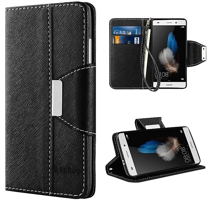 56 opinioni per Huawei P8 Lite Custodia- Vakoo Huawei P8 Lite Cover Flip a Portafoglio in Pelle